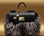сумка из меха лисы