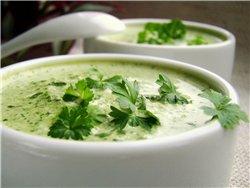 Кабачковый суп с голубым сыром