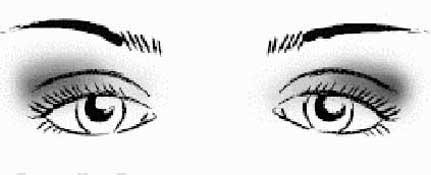 макияж глаз с опущенными уголками