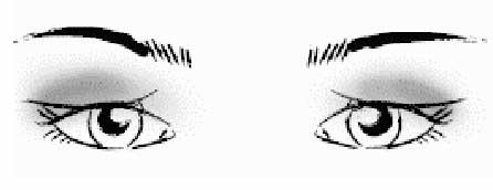 макияж глаз с опущенными верхними веками