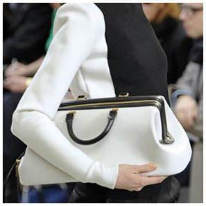 белая сумка-саквояж
