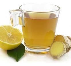 чай с имбирем и лимоном.