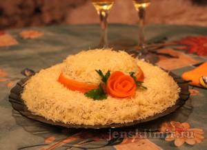 праздничный салат Шляпка