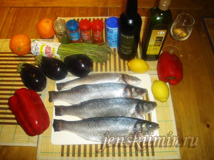 Рыба любин (сибас)