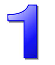 синяя цифра 1