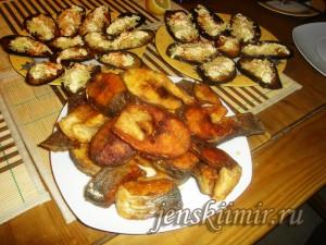 жареная рыба сибас