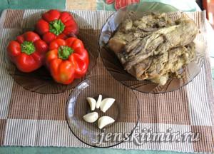 ингредиенты для закуски из баклажанов