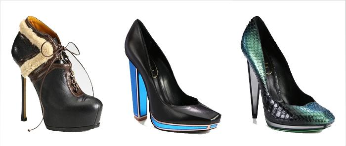 Ив Сен Лоран обувь 2013 - мода