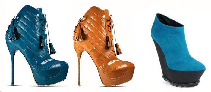 модная обувь 2013 ботильоны