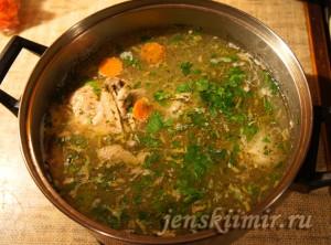 молдавская зама - куриный суп с домашней лапшой