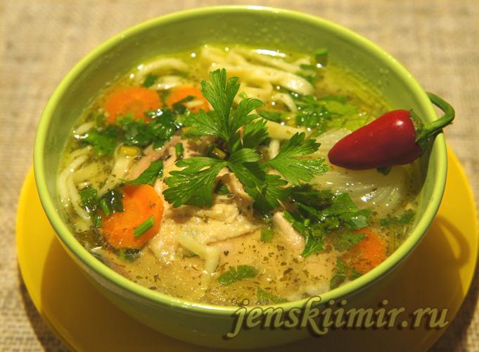 зама - куриный суп с домашней лапшой