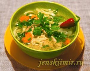 зама - суп с домашней лапшой