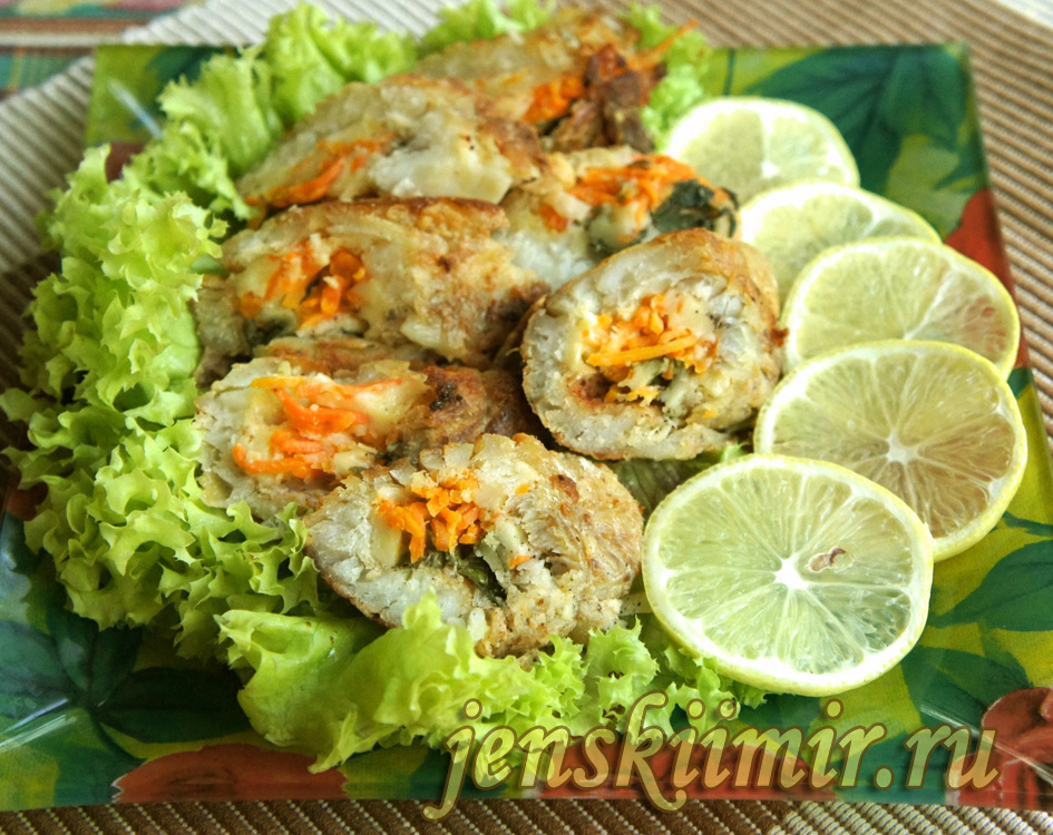рулет из рыбы - рецепт