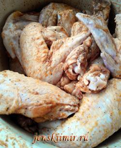 маринование куриных крылышек