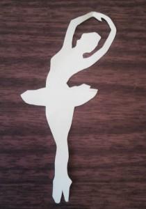 бумажная снежинка-балерина