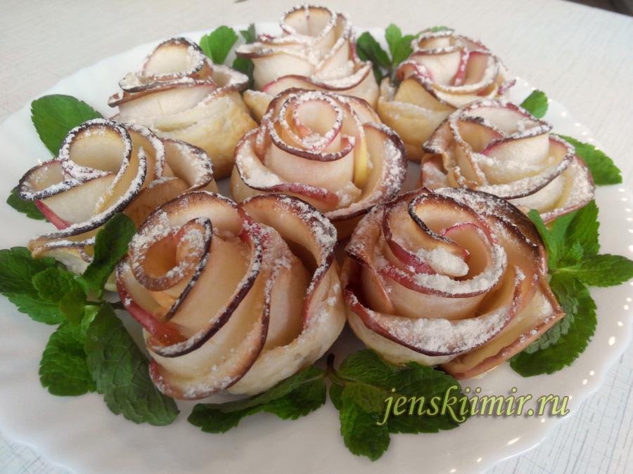 десерт из яблок Розочки