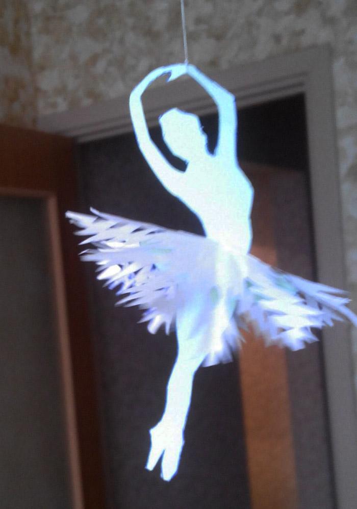 бумаги снежинок - балерин.