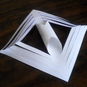 объемная бумажная снежинка