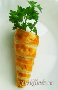 оригинальный пирожок-морковка