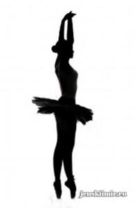 шаблон для снежинки-балерины