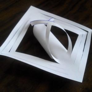 снежинка из бумаги схема