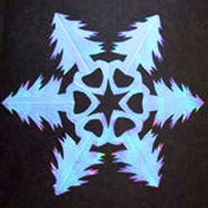 бумажная снежинка своими руками-1