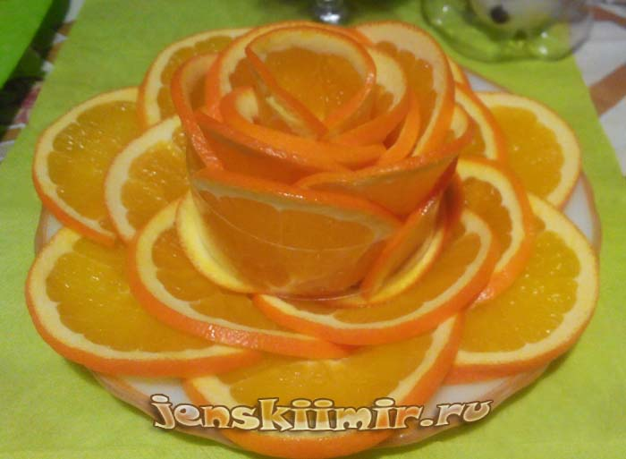 как красиво нарезать апельсин фото