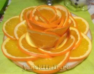 как красиво нарезать апельсин оформление блюд