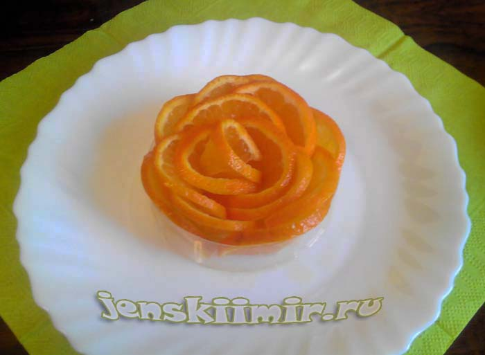 Как правильно нарезать апельсин на стол