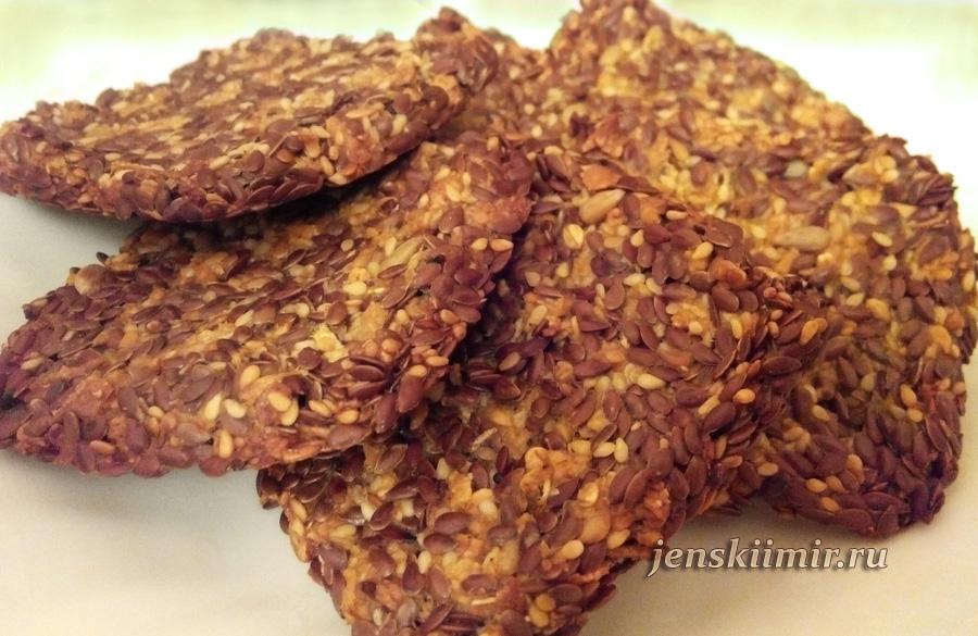 печенье из семян льна