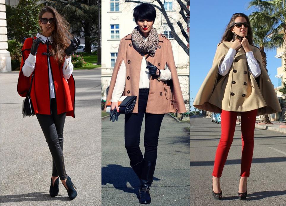 с чем носить пальто-кейп