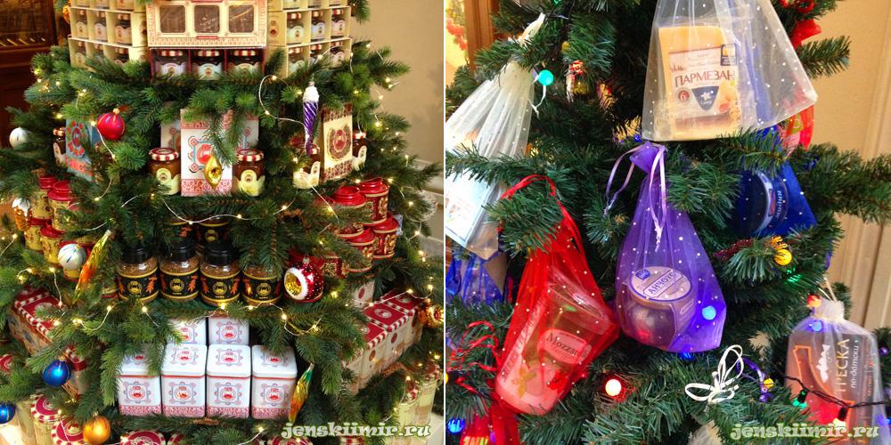 продукты на елке