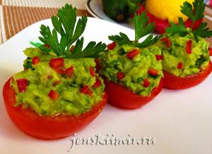 помидоры с гуакамоле